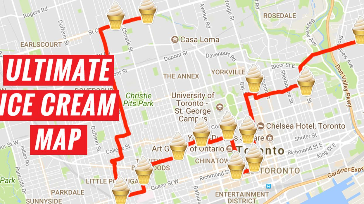 Here's The Ultimate Toronto Ice Cream Map You Need To Do Before Summer Ends