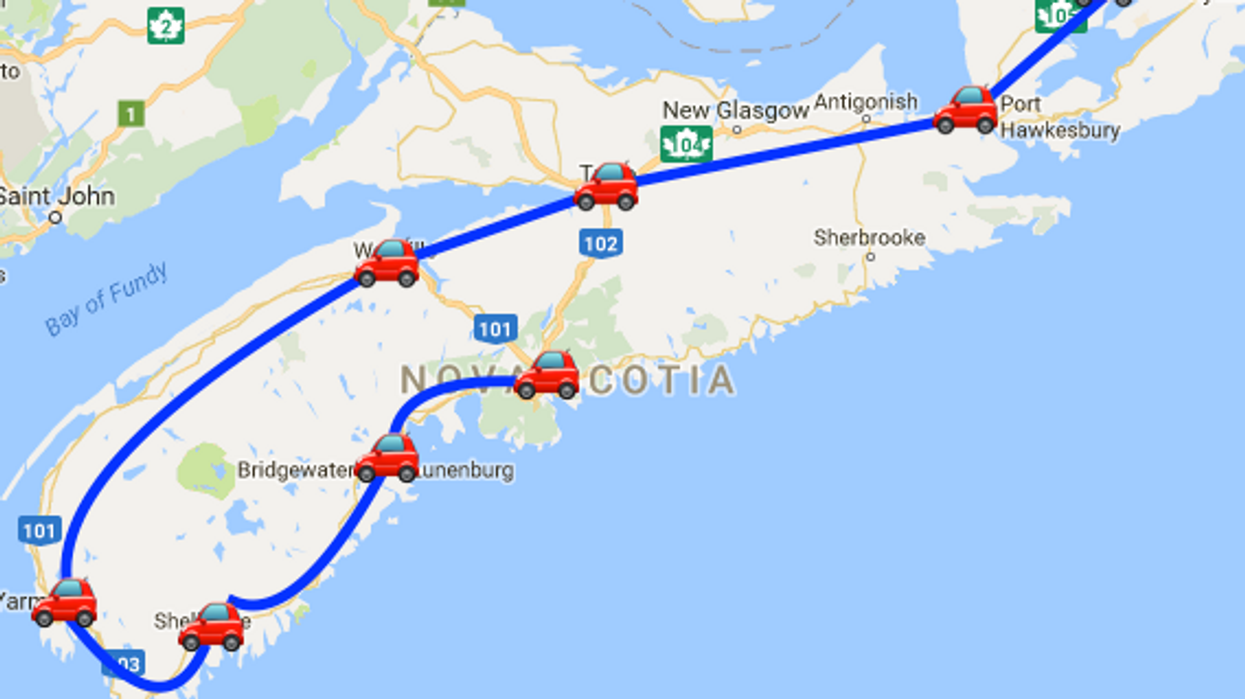 This Map Will Take You On The Most Epic Road Trip Through Nova Scotia Anyone's Ever Been On