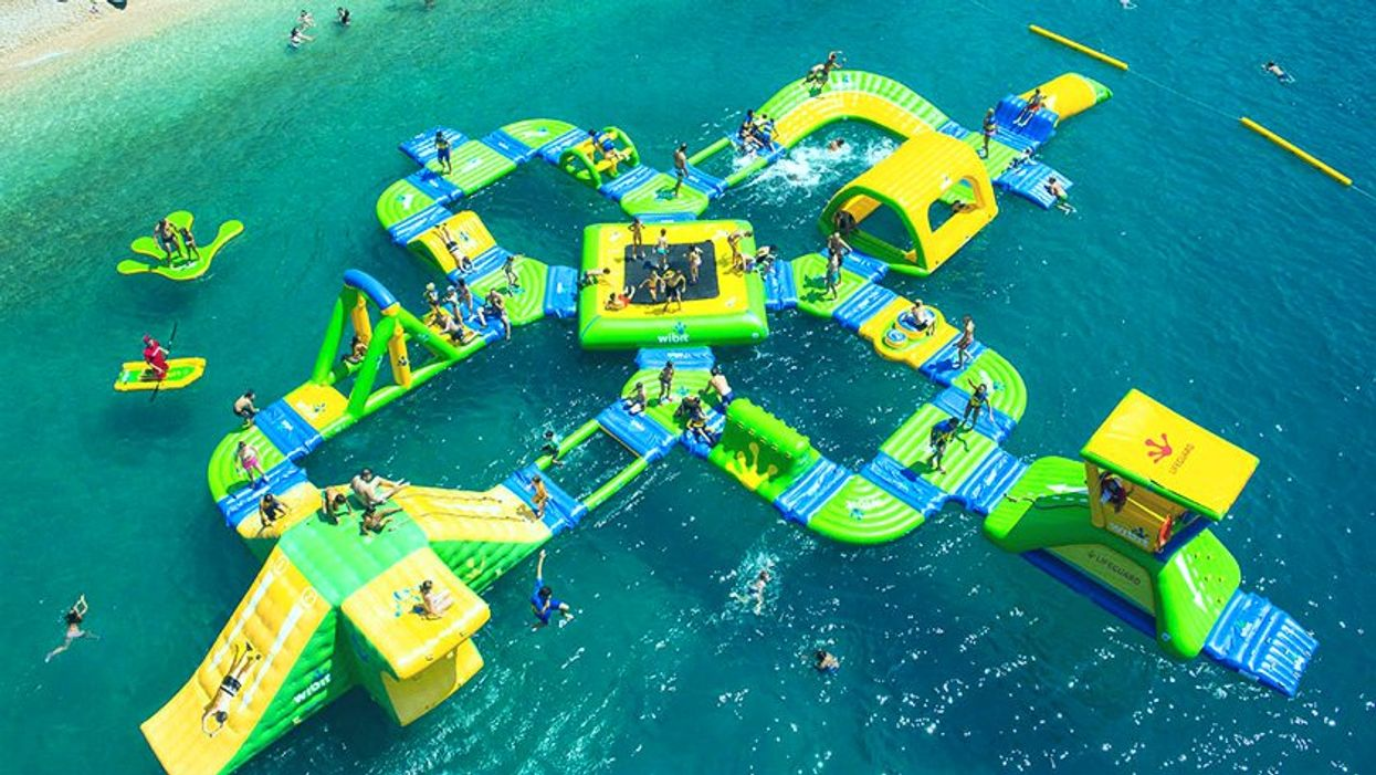 This New Floating Water Park In Barrie Is The Coolest Way To Go Swimming