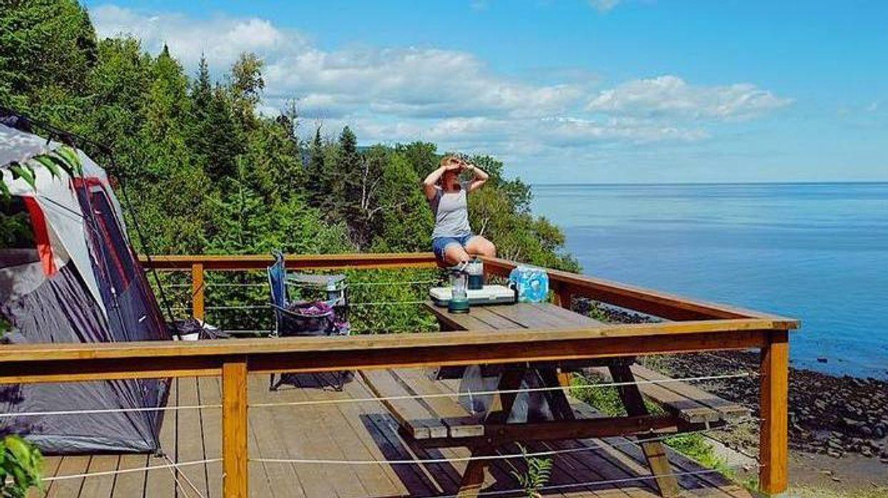 Le plus beau spot au Québec où faire du camping cet automne
