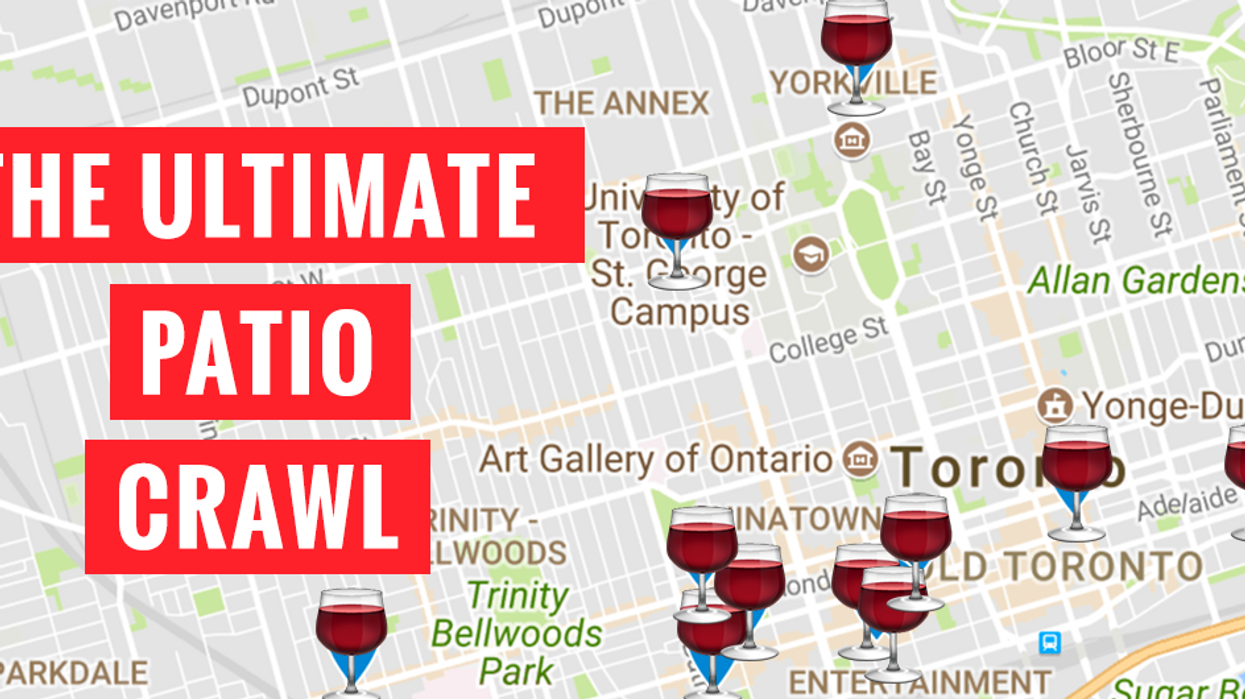 This Map Will Take You On An Epic Toronto Patio Crawl You Have To Do Before Summer Ends