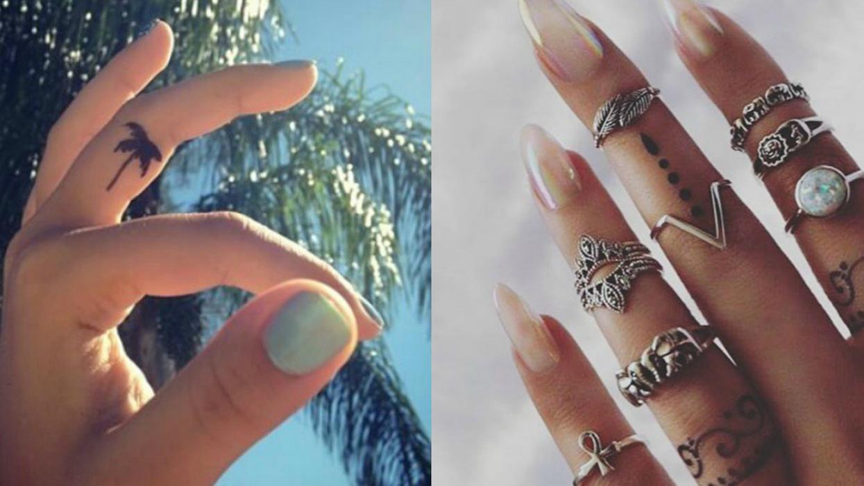 Ces 16 tatouages de doigts tout mignons vont te convaincre de faire le saut toi aussi