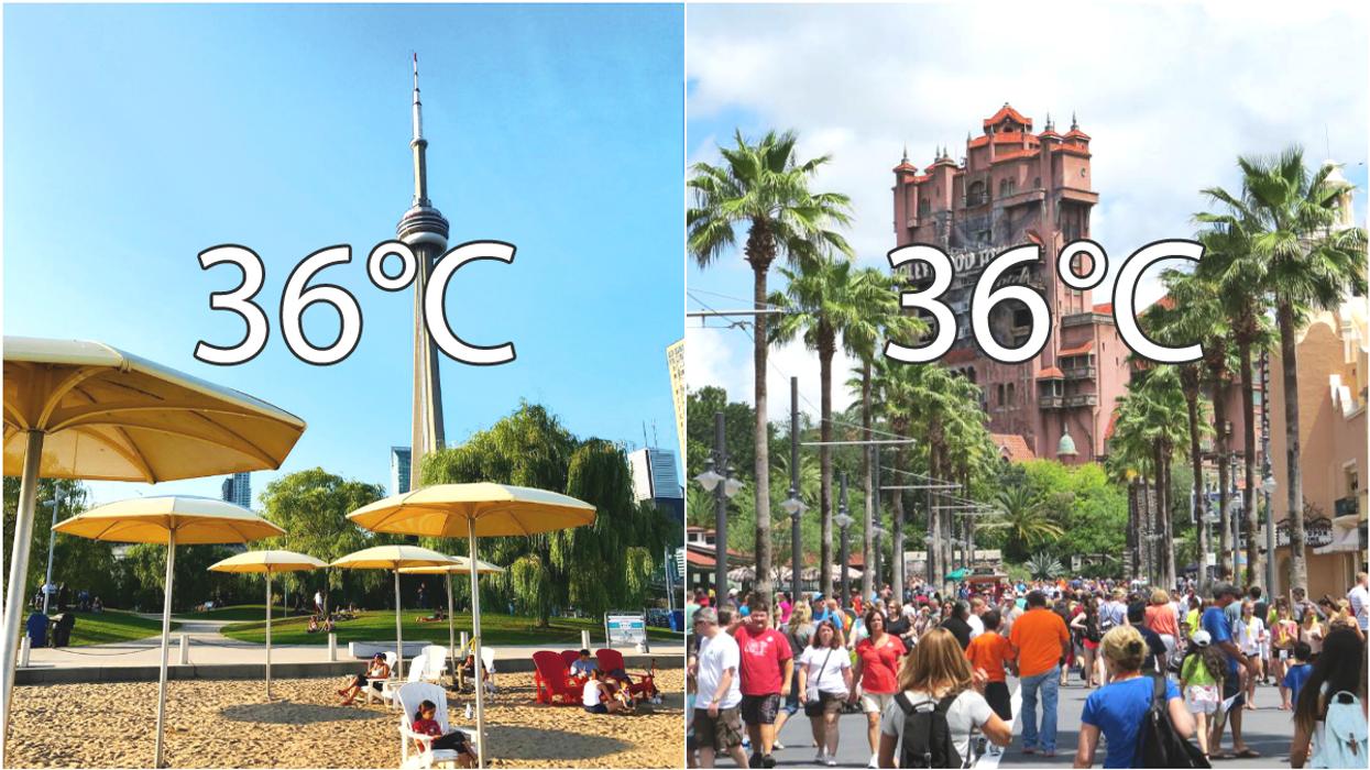 Toronto Is Going To Feel As Hot As Orlando, Florida Today