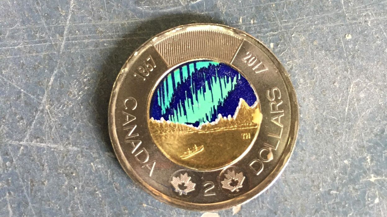 The New Aurora Borealis Toonie Might Just Be Canada's Coolest Looking Coin Yet