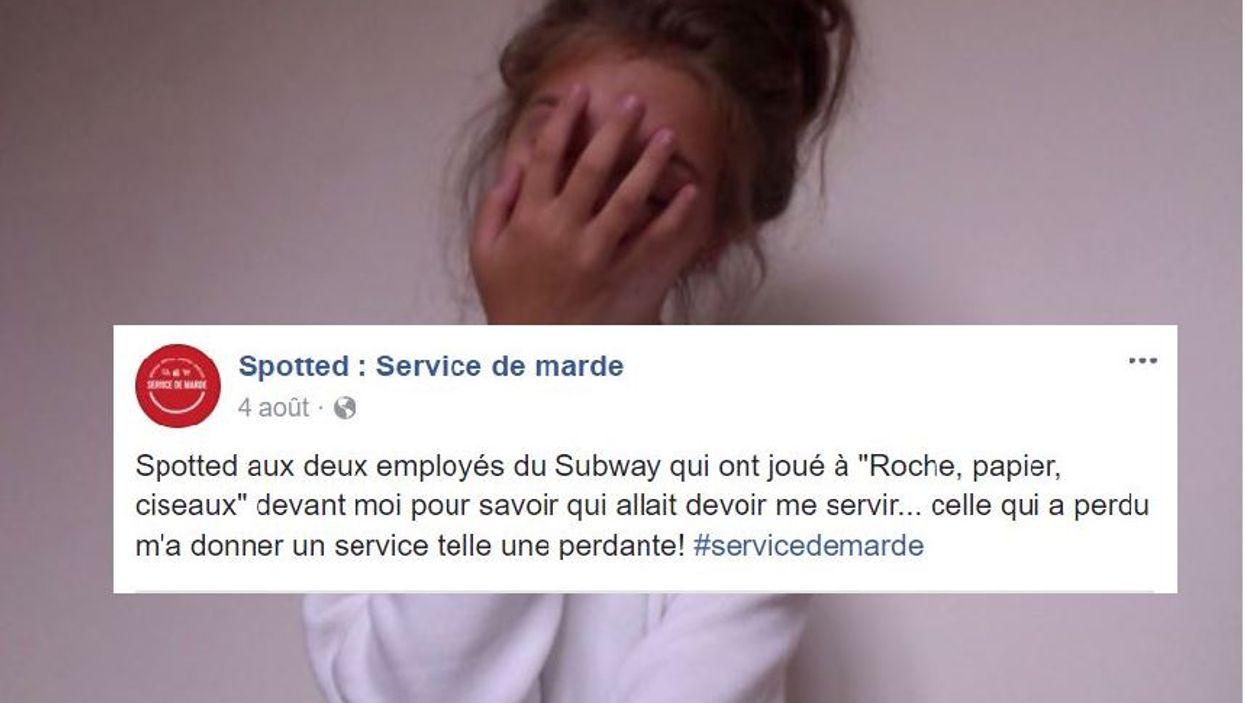 Les 13 posts les plus ridicules que tu liras sur Spotted : Service de marde