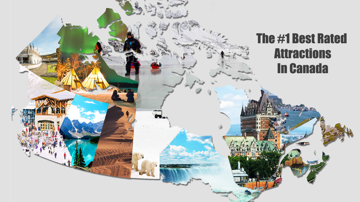 This Map Shows The #1 Attraction In Every Province And Territory In Canada