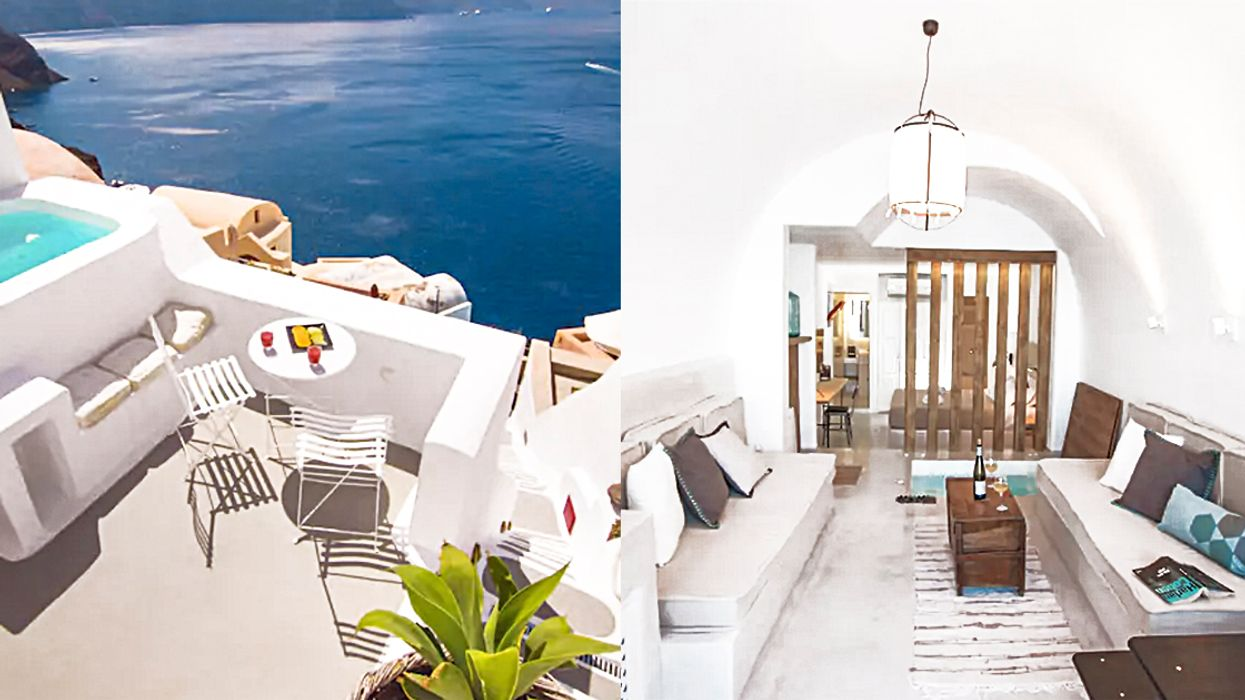 You Can Rent This House On A Cliff In Santorini And It's Really Cheap