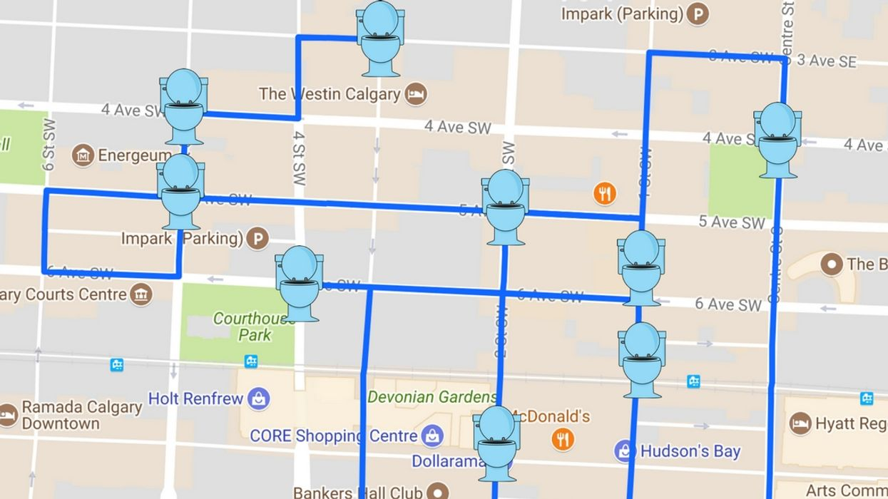 There Is Finally An App That Shows Public Washrooms In Calgary
