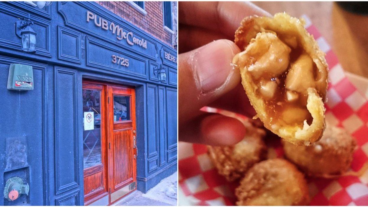Tu peux manger des croquettes à la poutine dans ce pub de Montréal