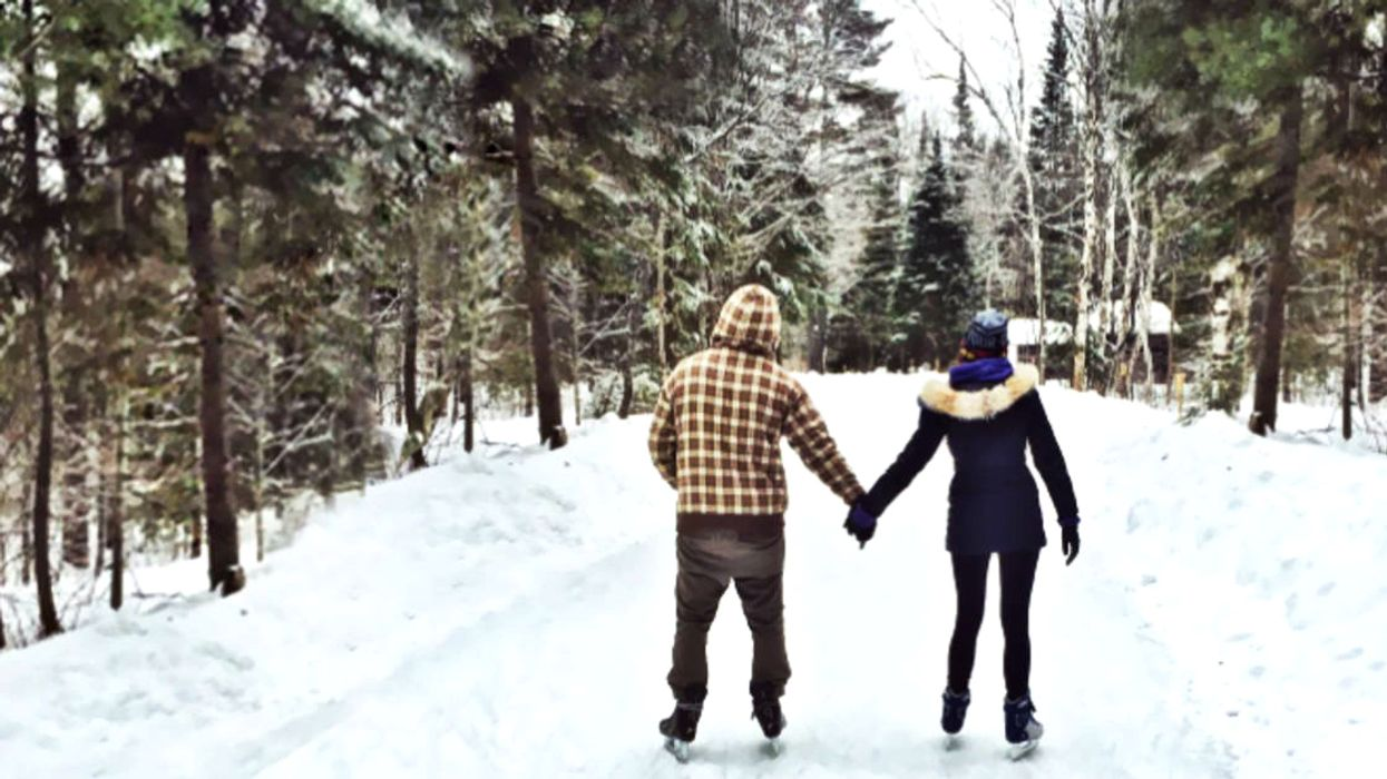 This Epic 1.3-km Forest Skating Trail In Ontario Opens Next Month