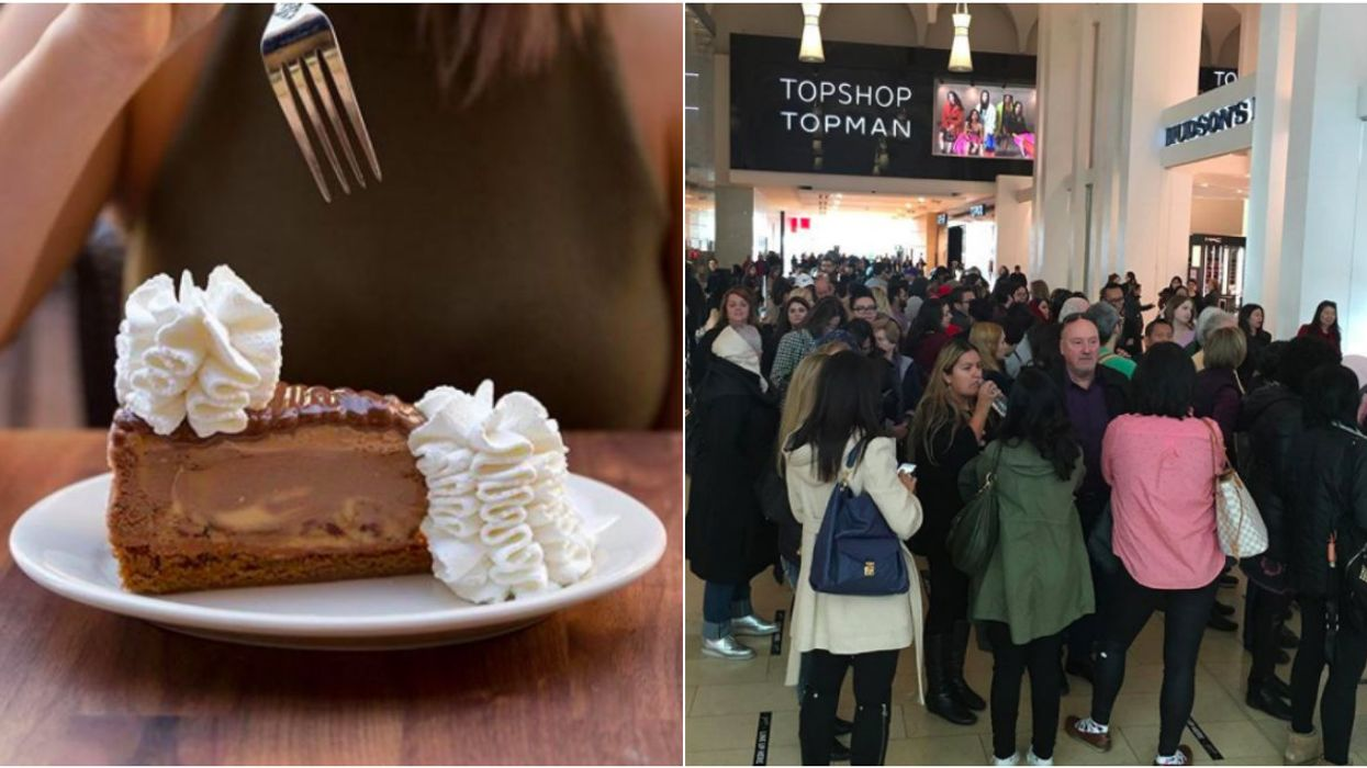 The Cheesecake Factory Is Officially Open In Toronto And The Line Is CRAZY
