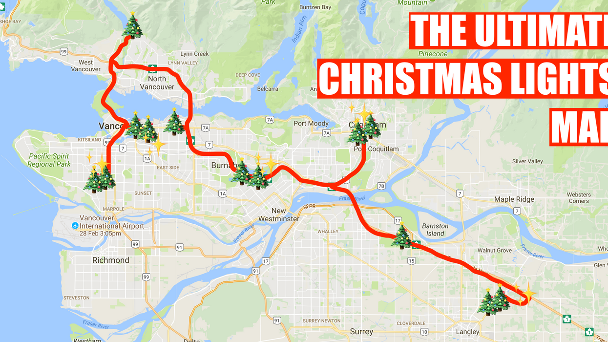 Here's A Map To Finding The Most Magical Christmas Lights In Vancouver