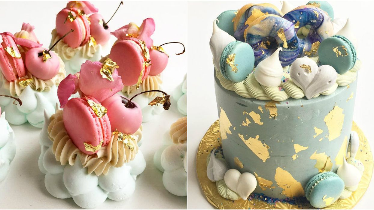 This Toronto Instagram Baker Makes Insane Desserts Using 24-Karat Gold And We're Totally Obsessed