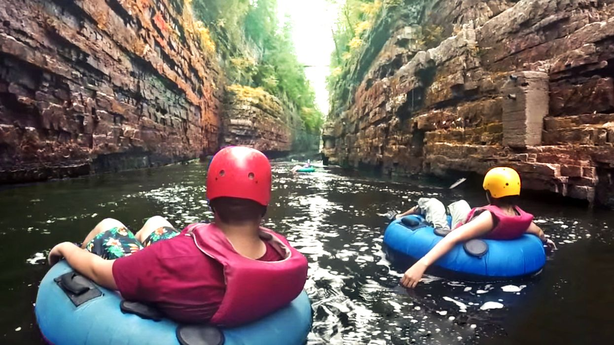 You Can Go Lazy River Tubing Through An Ancient Canyon Just Across The Border From Ontario