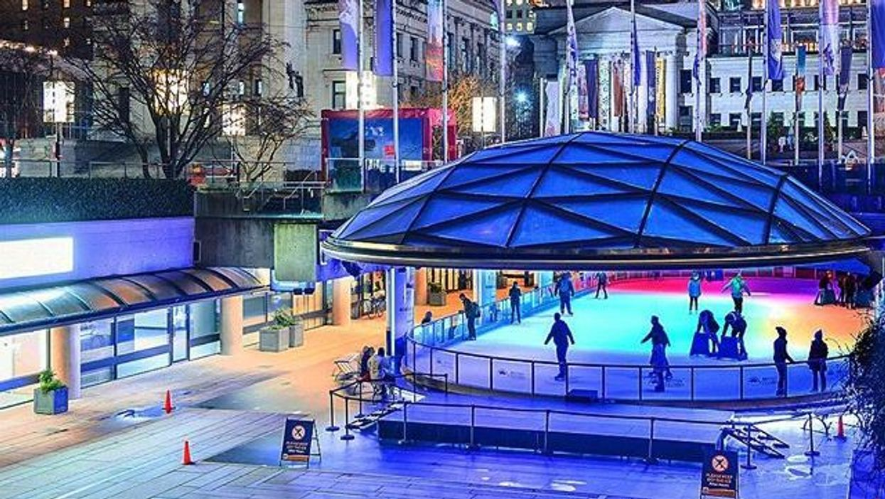 Today Is The Last Day You Can Skate For Free At Vancouver's Magical Robson Square Rink