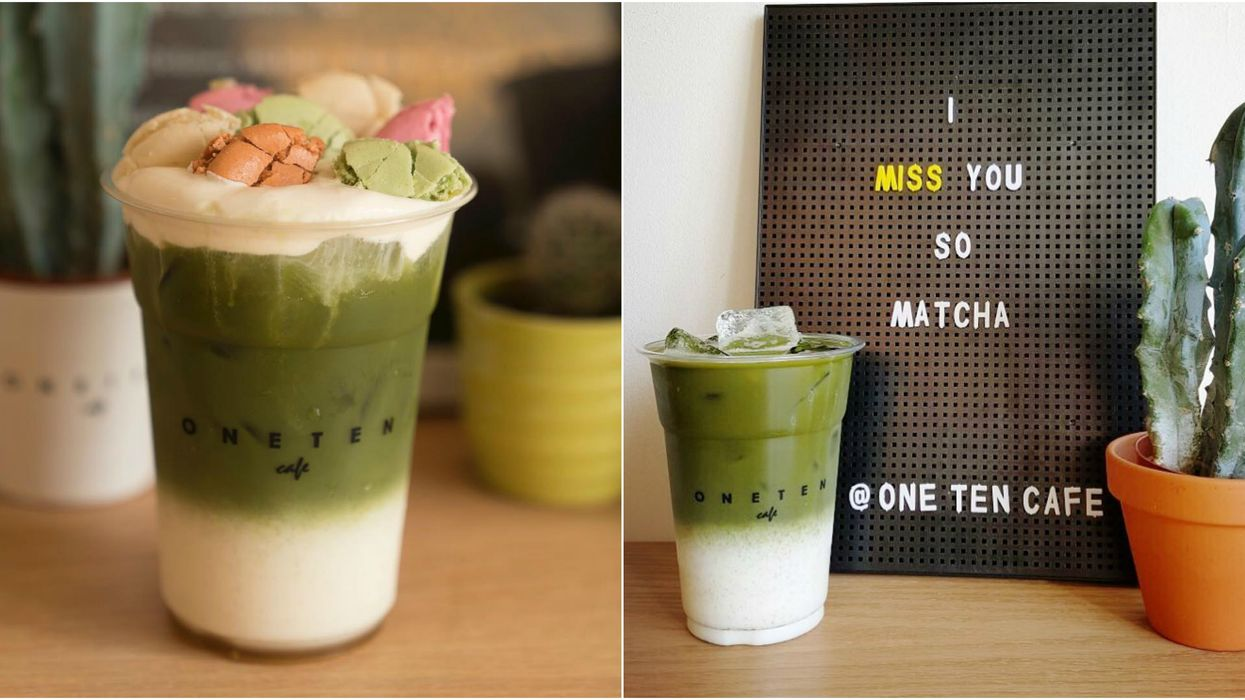 This Toronto Cafe Serves Macaron Matcha Lattes And They Look Delicious