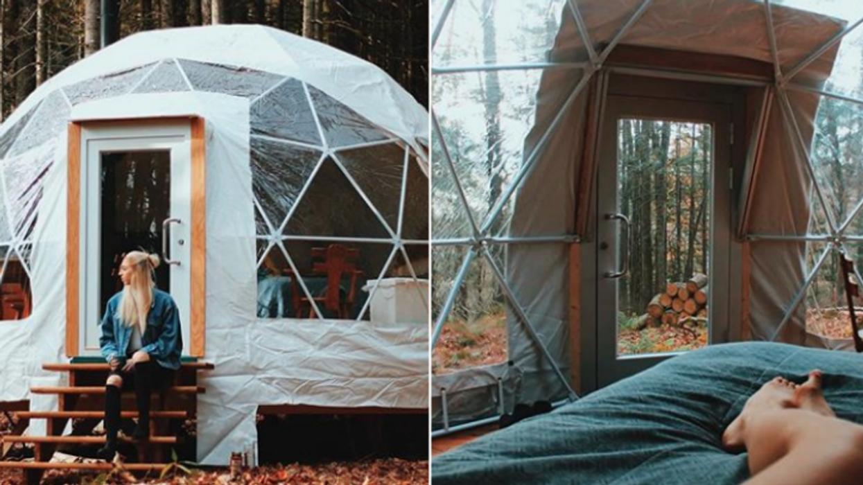 Tu peux dormir dans un dôme à 30 minutes de Québec et c'est la meilleure chose qui soit