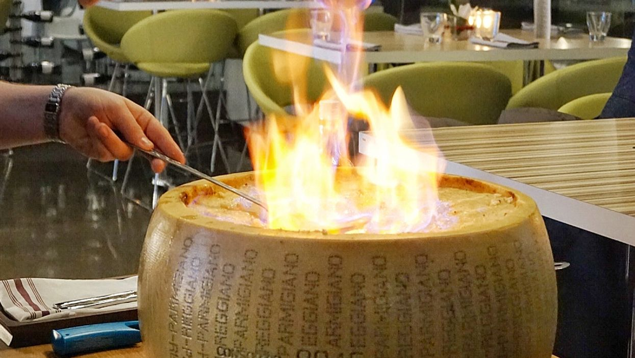 You Can Get Pasta Served Inside A Flaming Cheese Wheel At This Toronto Restaurant