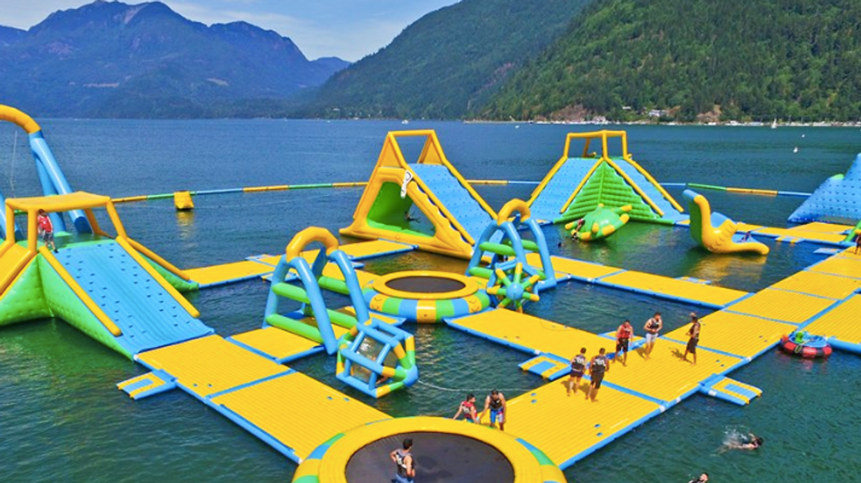 There Is A Massive Floating Waterpark In BC And It's Definitely Not Just For Kids