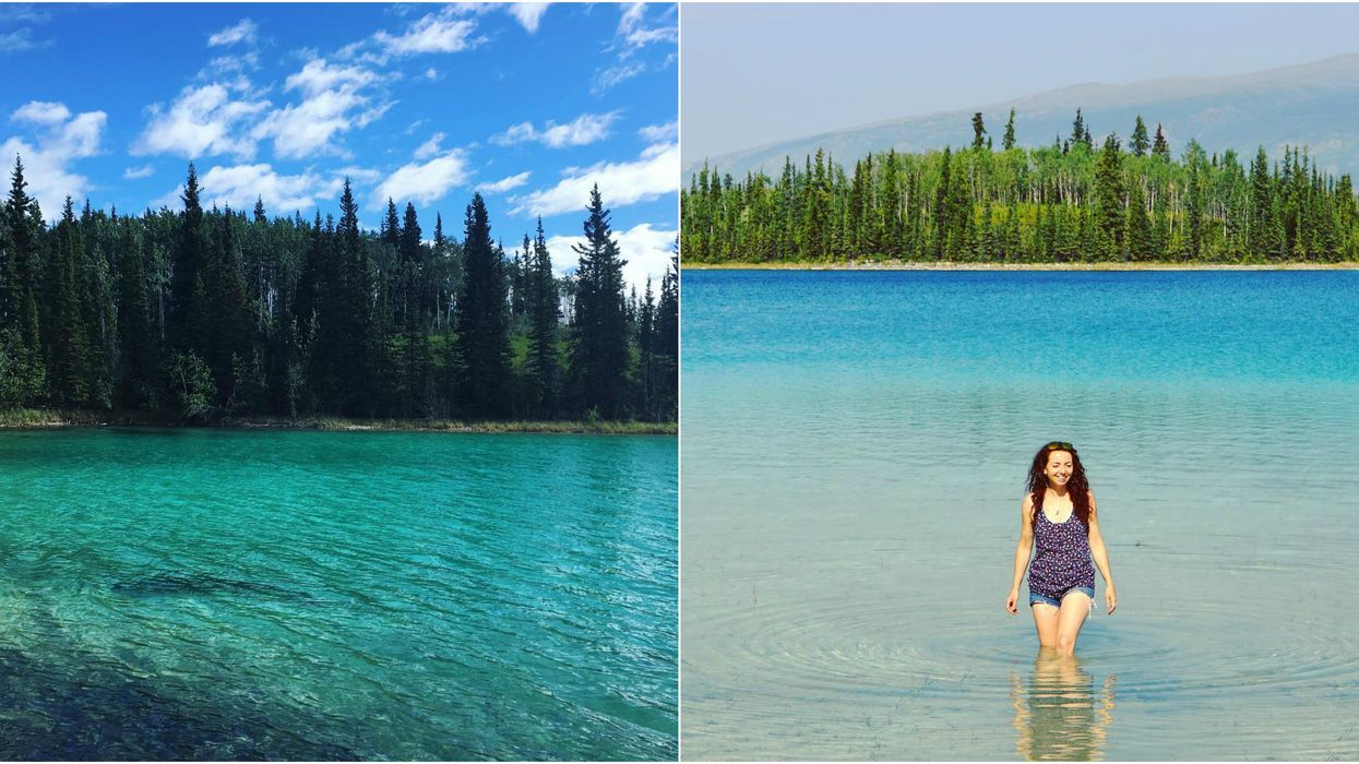 This Place In BC Has Some Of The Clearest Blue Water You'll Ever See