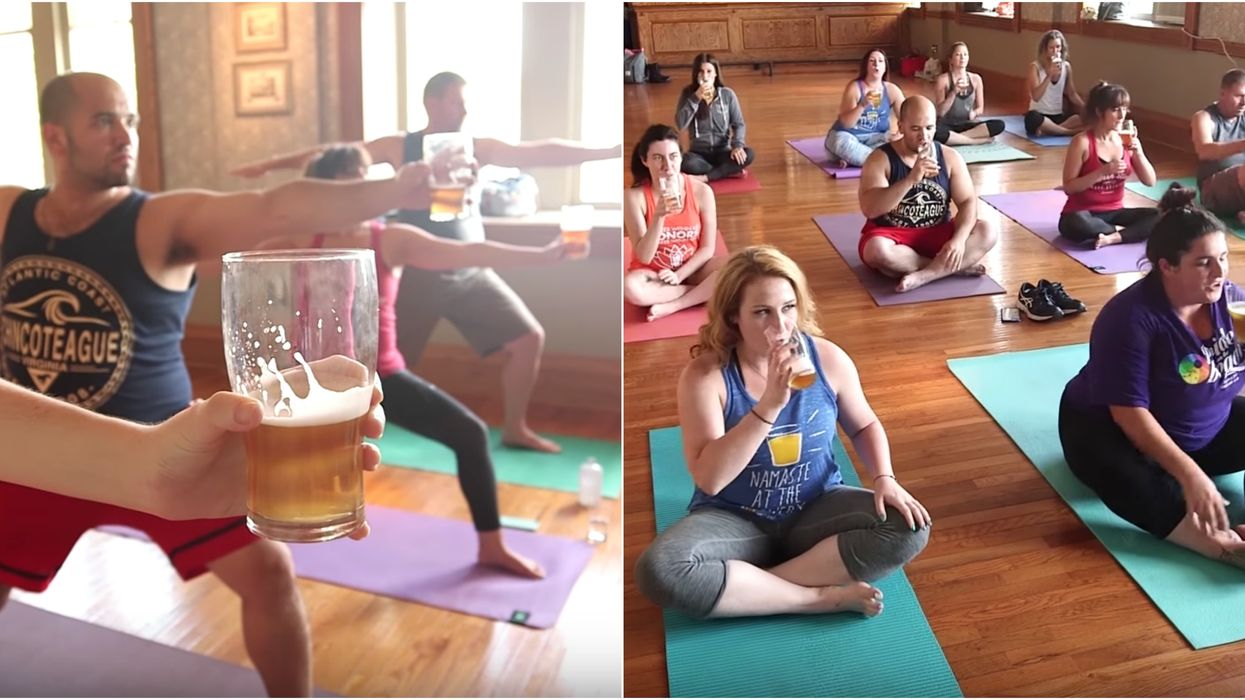 You Can Do Beer Yoga At This Calgary Brewery And It's Definitely Your Kind Of Workout