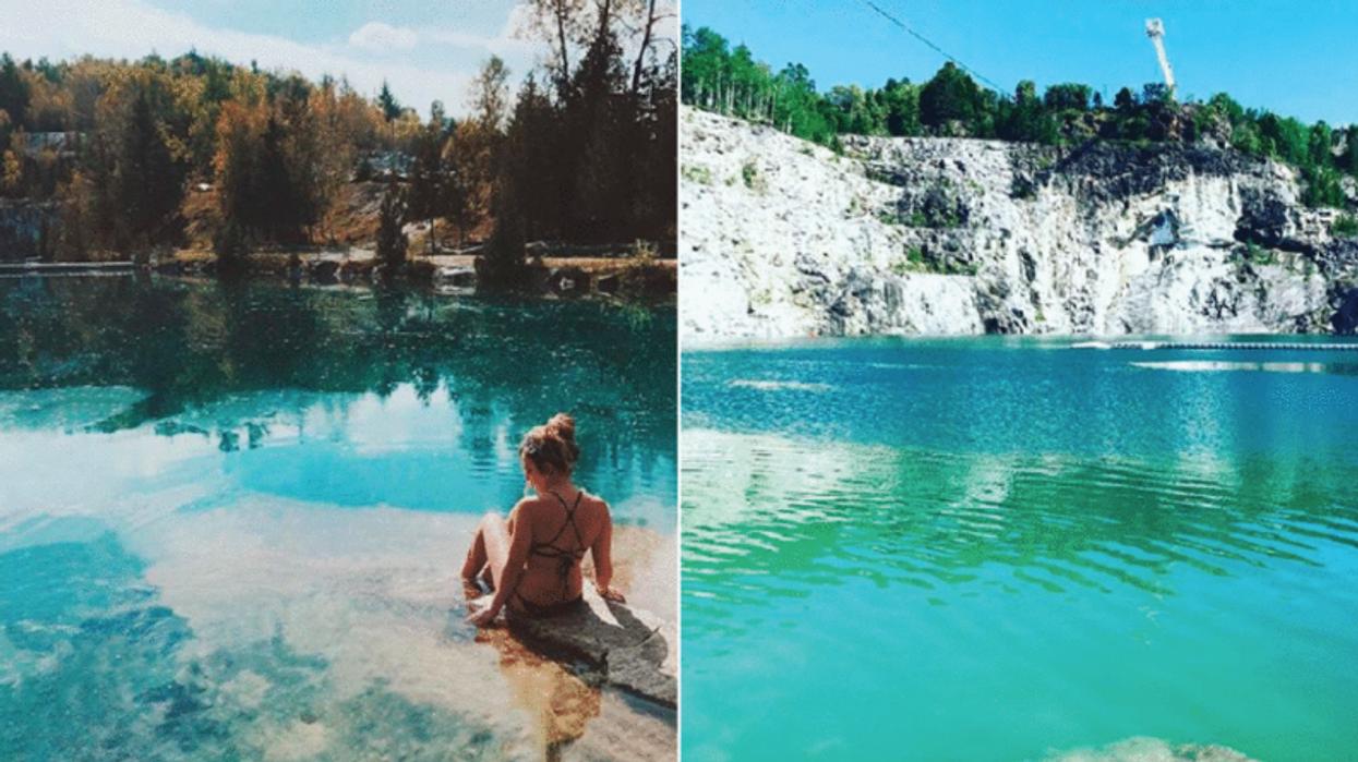 Cette piscine naturelle cachée à 2 heures de Montréal va te donner l'impression d'être à Tahiti