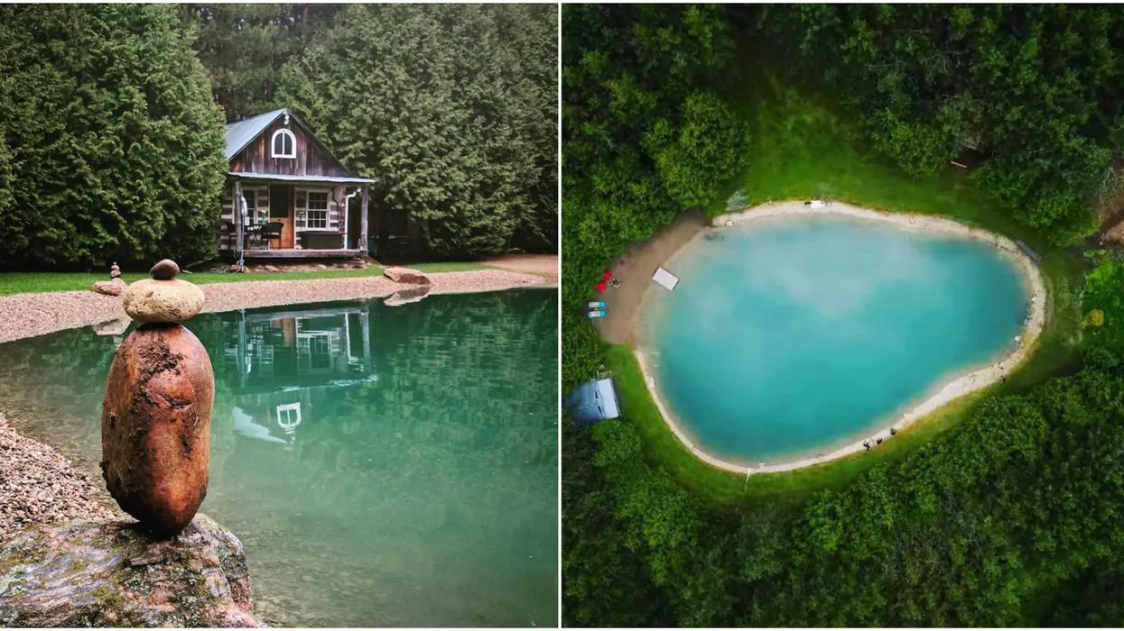 You Can Rent A Cabin With A Private Turquoise Lake For Cheap In Ontario