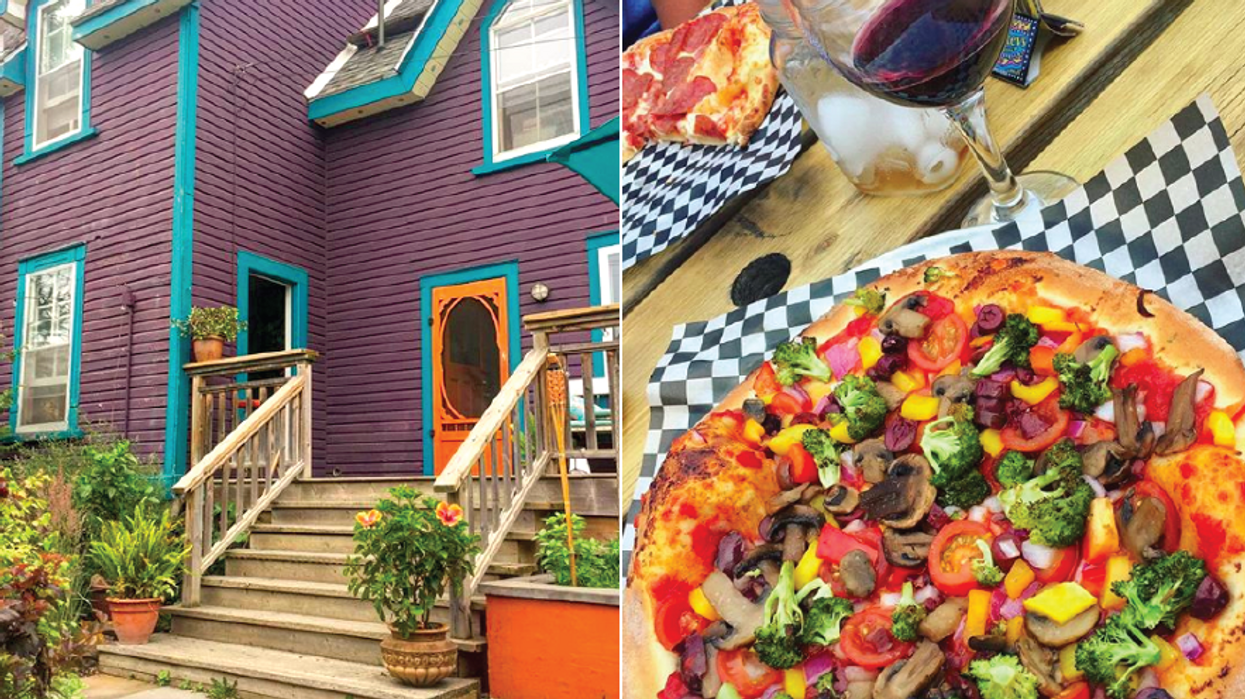 This Adorable Purple House Just Outside Of Ottawa Sells The Most Unreal Pizza