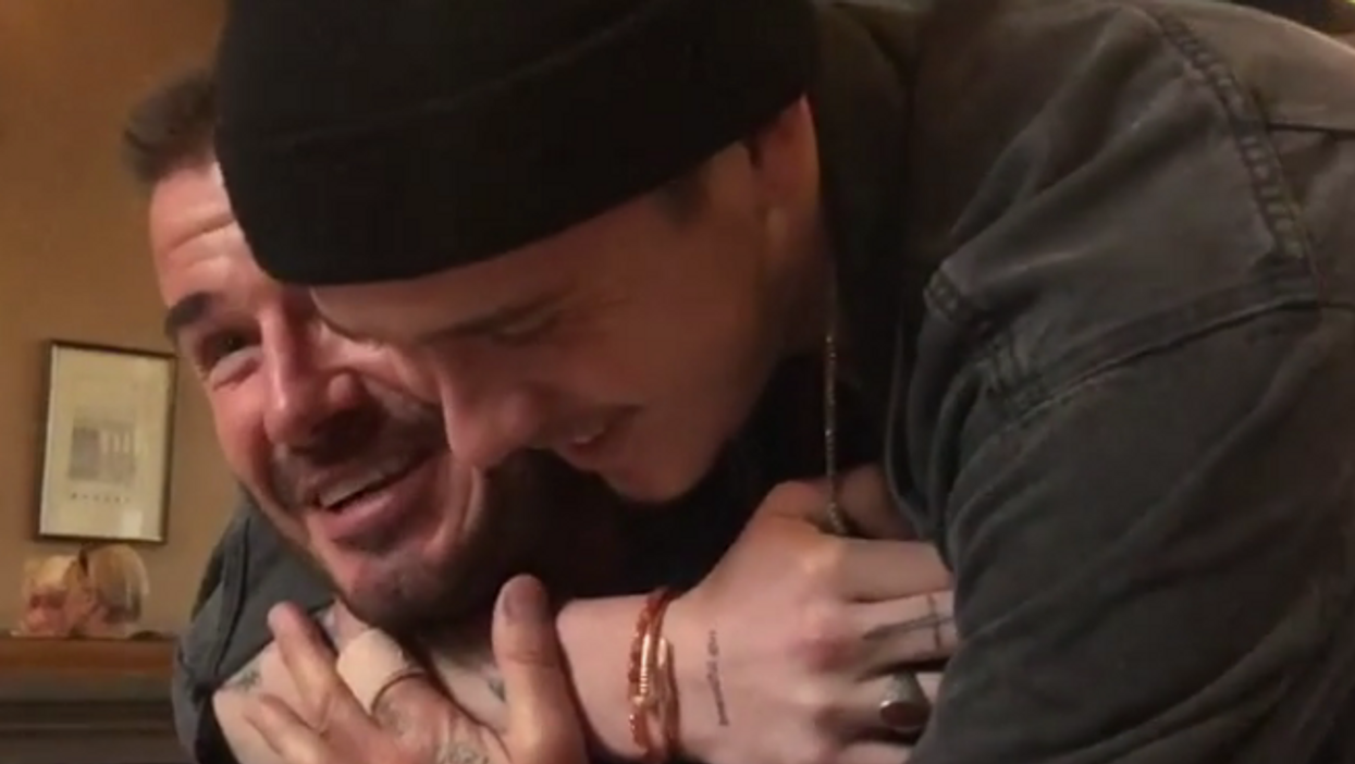 David Beckham's Son Surprised Him On His Birthday And We're Not Crying, You're Crying