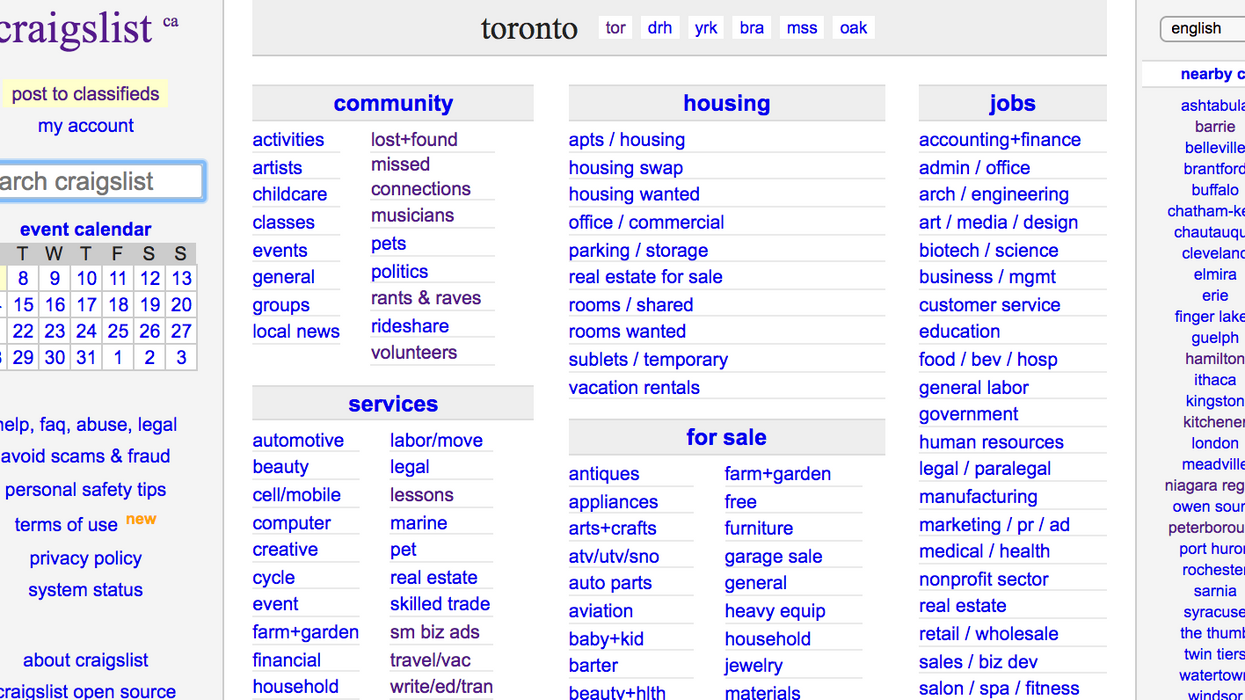 Craigslist Canada Just Removed The Personal Ads Section And It's Likely Due To Sex Trafficking