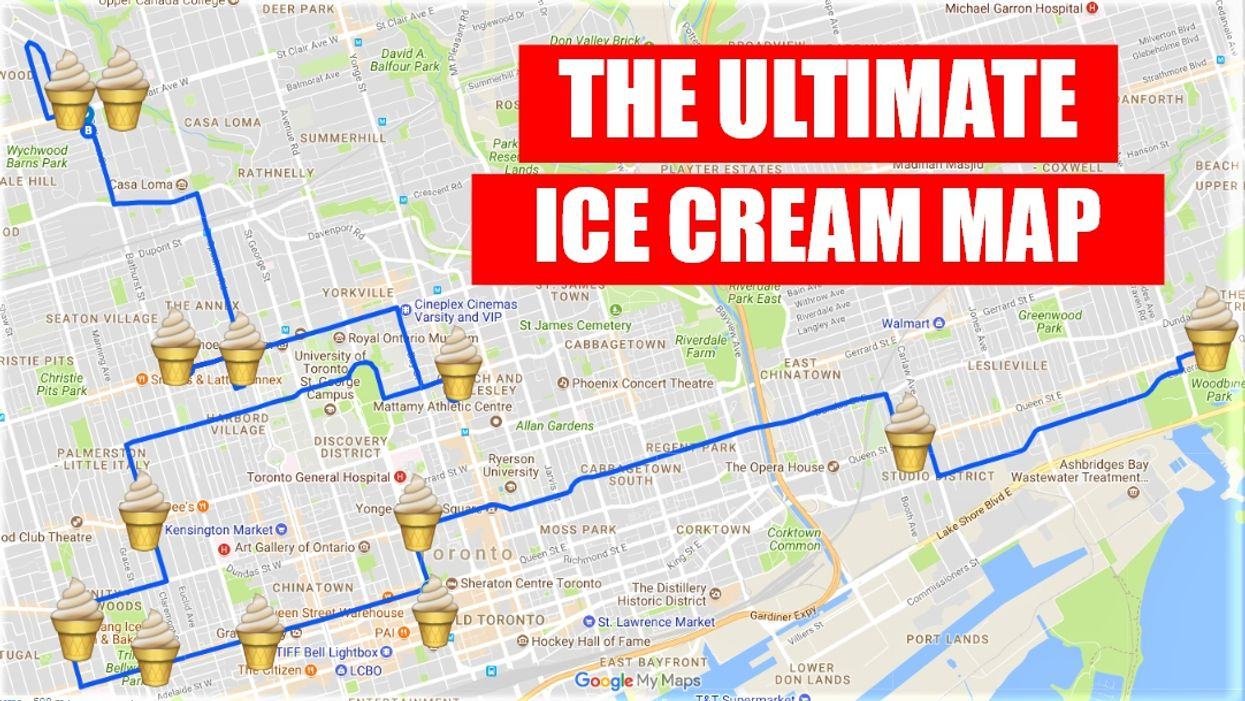 This Epic Map Will Take You To All The Best Ice Cream Spots In Toronto
