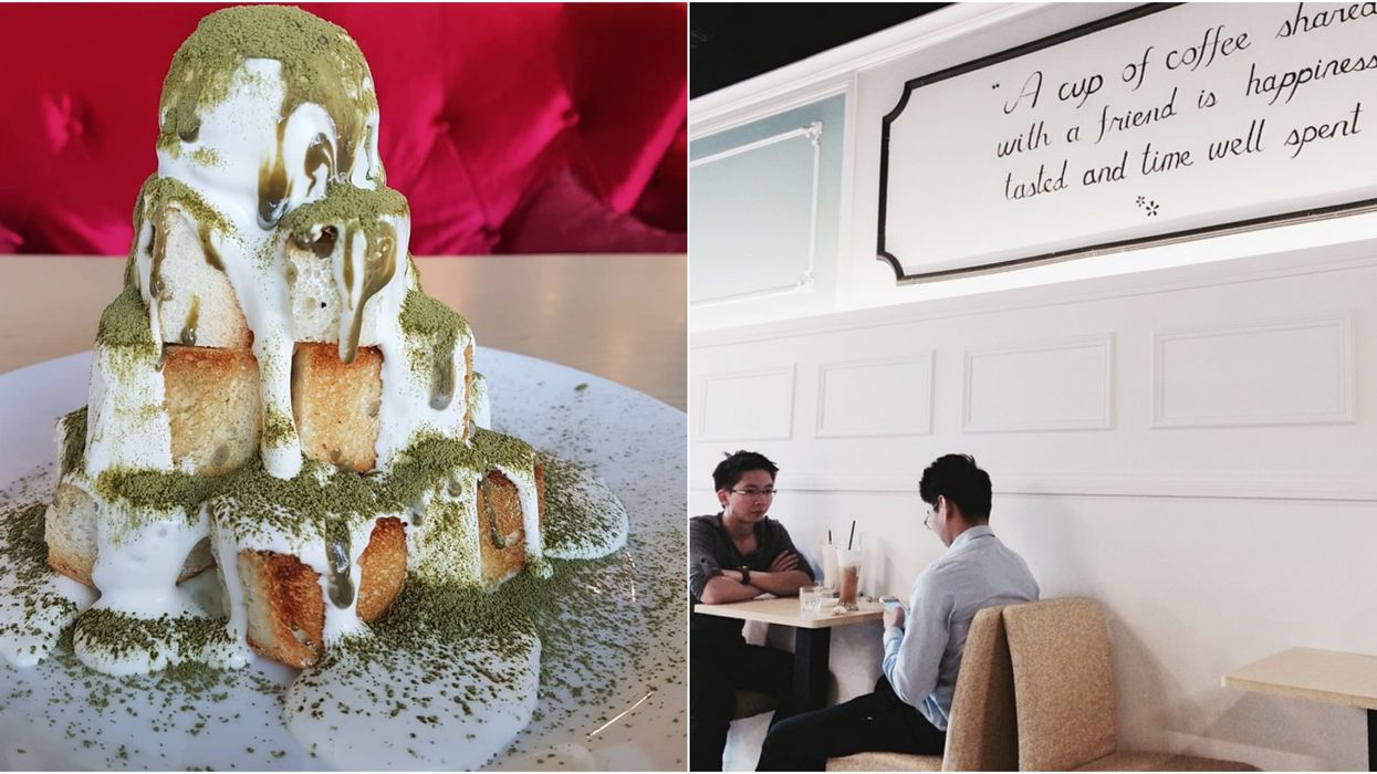 This Edmonton Restaurant Serves Up The Most Epic Tower Of Matcha French Toast