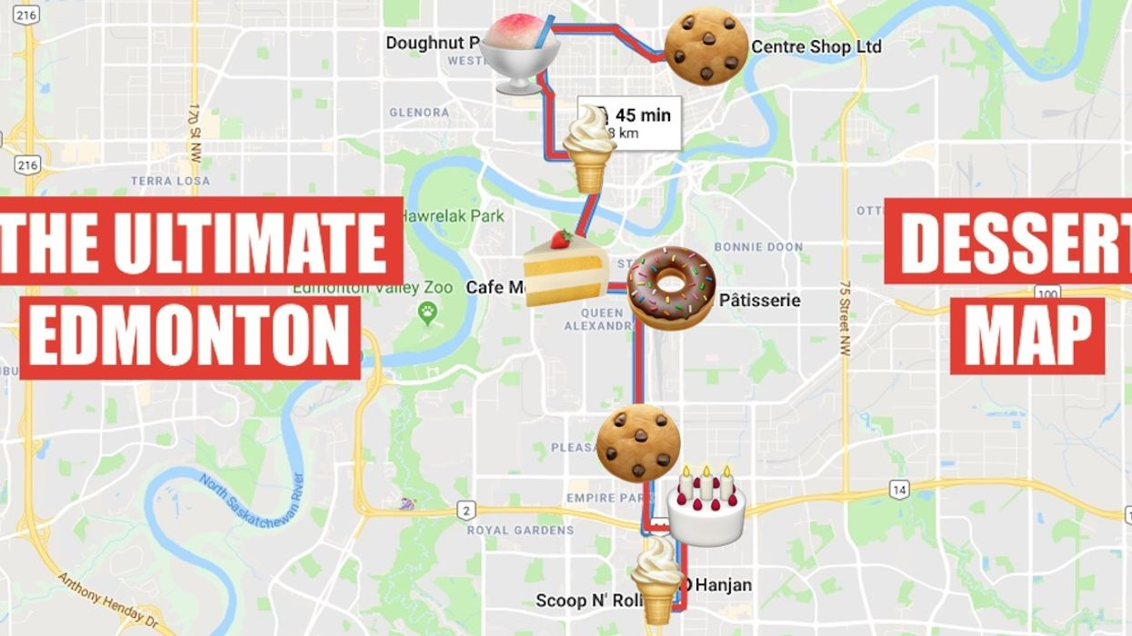 This Epic Map Will Take You On The Sweetest Dessert Crawl Through Edmonton