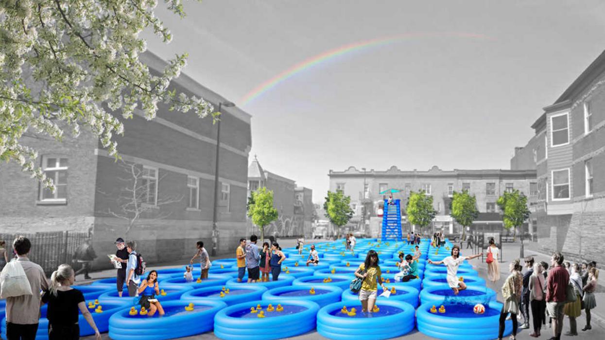 Le Mont-Royal sera couvert de piscines gonflables ce mois-ci