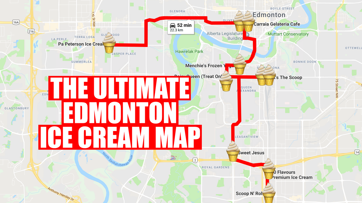 This Map Will Take You On An Epic Ice Cream Crawl Of Edmonton
