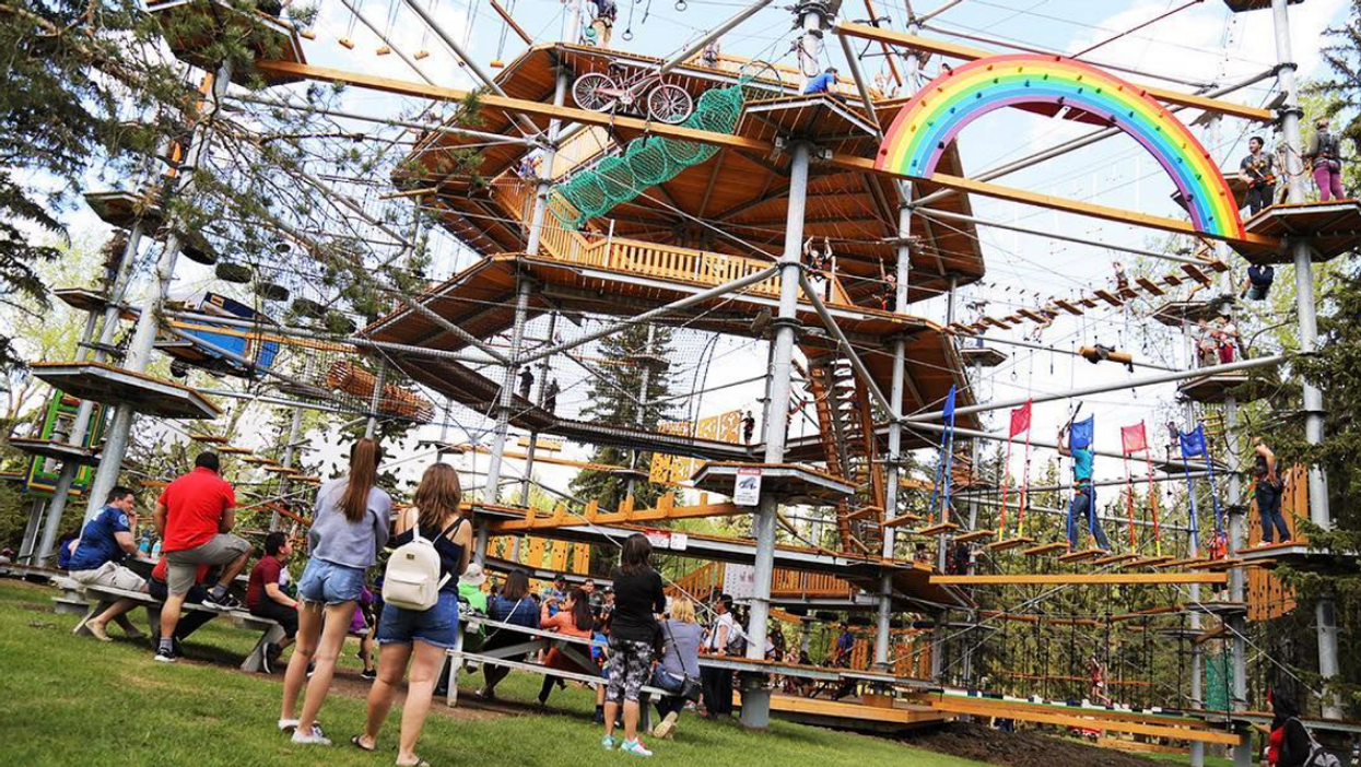 This Suspended Adult Playground In Edmonton Will Bring Out Your Inner Tarzan