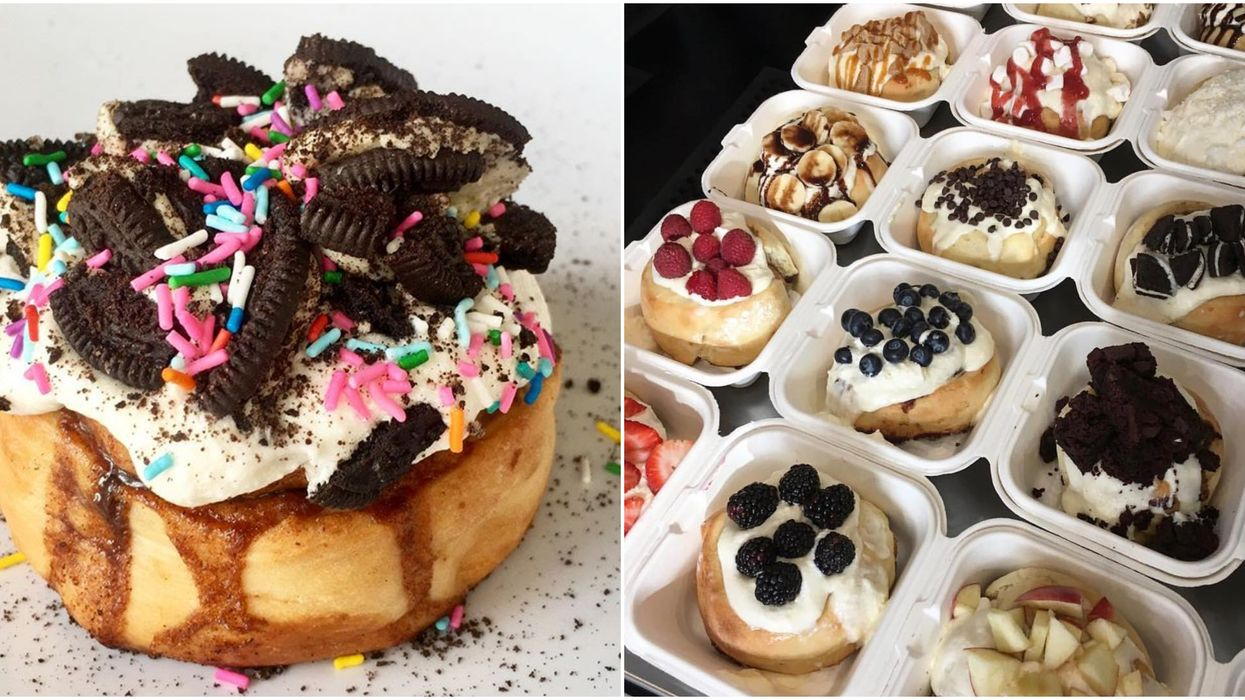 You Can Get The Most Insane Cinnamon Rolls With EVERYTHING On Top At This Edmonton Spot
