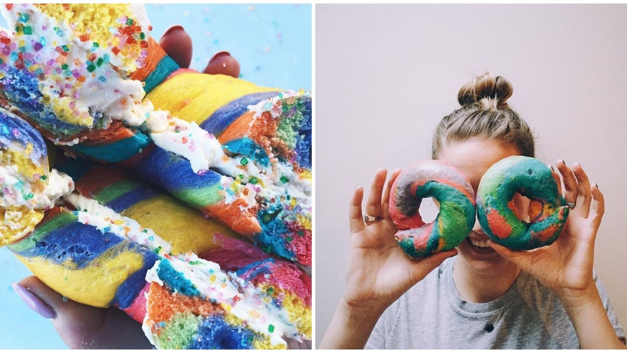 You Can Get These Insane Rainbow Bagels In Calgary And Here's Where