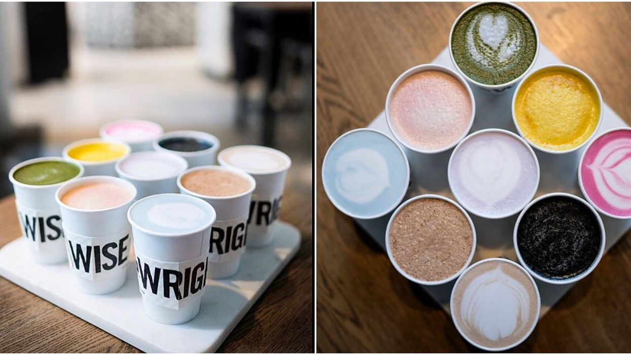 You Can Get Rainbow-Coloured Lattes At This Calgary Cafe