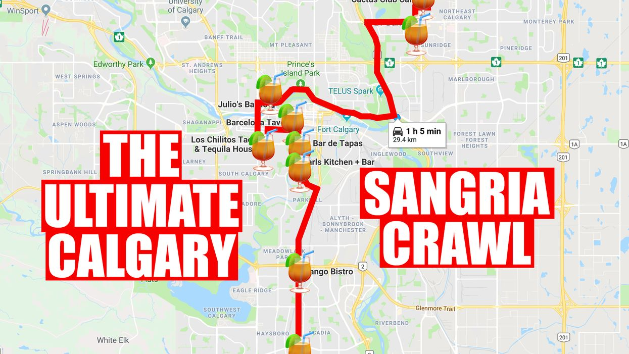This Map Will Take You To All The Best Sangria Spots In Calgary