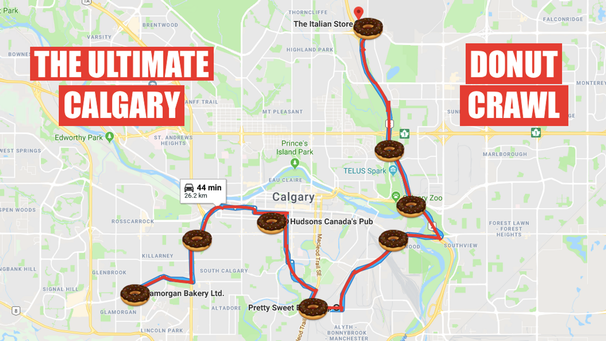 This Epic Map Will Take You On The Most Amazing Donut Crawl Through Calgary