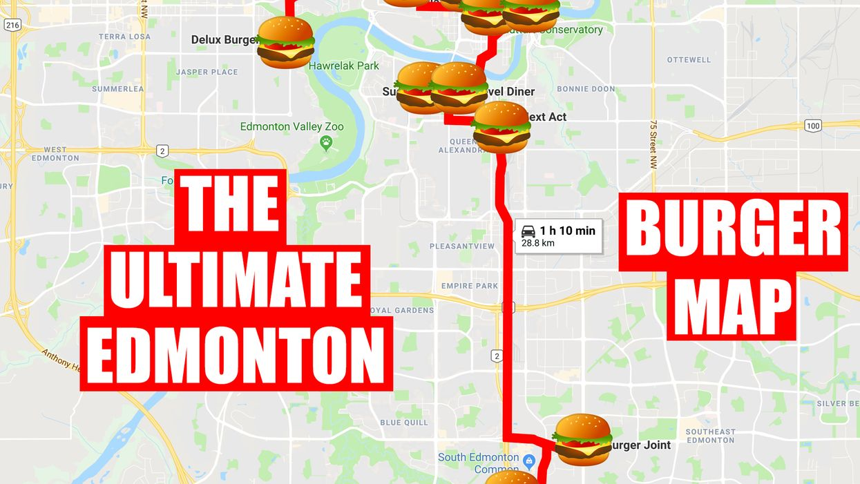 This Map Will Take You On An Epic Burger Crawl Of Edmonton