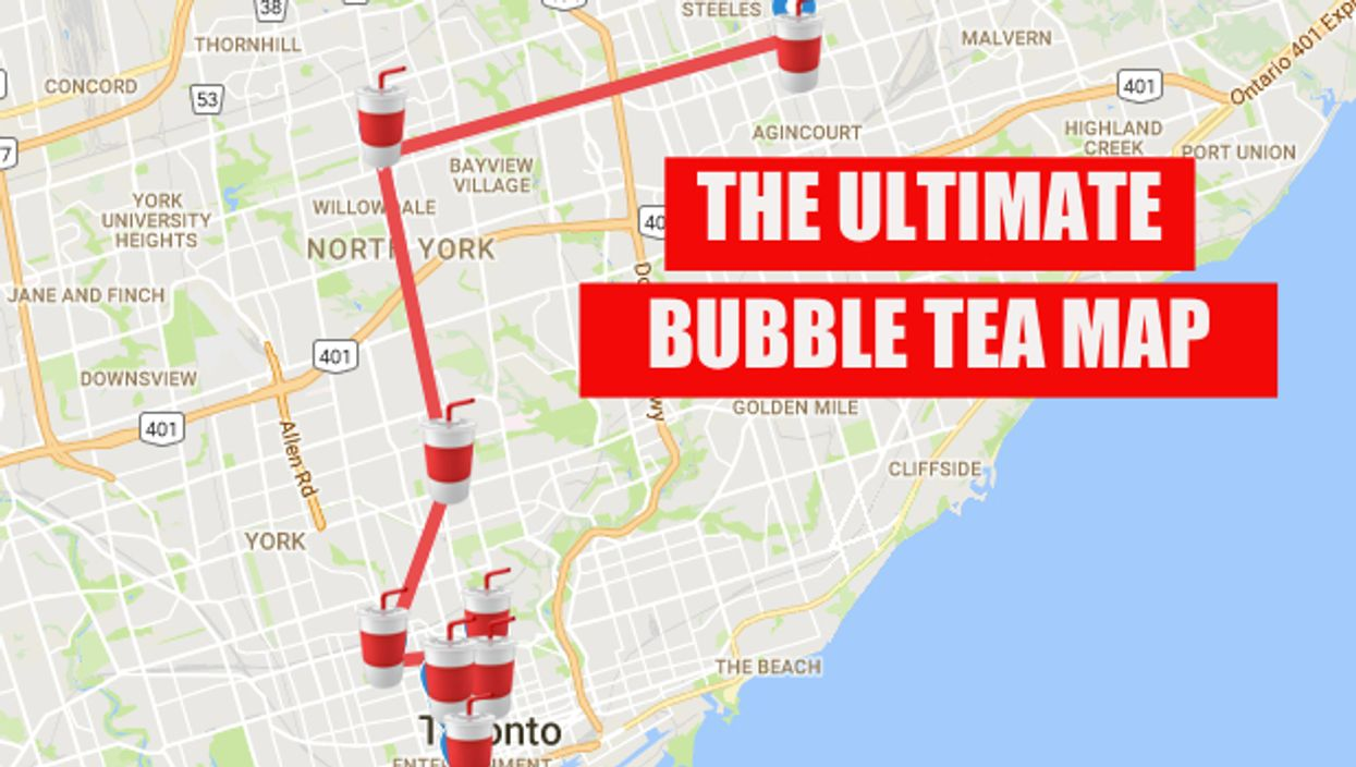 This Map Will Take You To All The Best Bubble Tea Spots In Toronto
