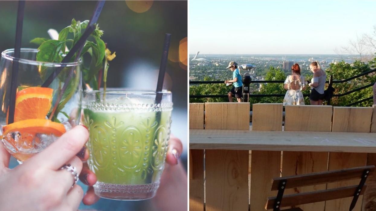 Une terrasse suspendue s'installe sur le Mont-Royal pour prendre un verre avec la plus belle vue en ville