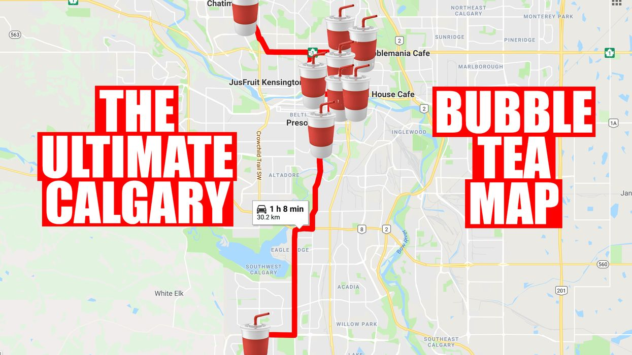 This Map Will Take You To All The Best Bubble Tea Spots In Calgary