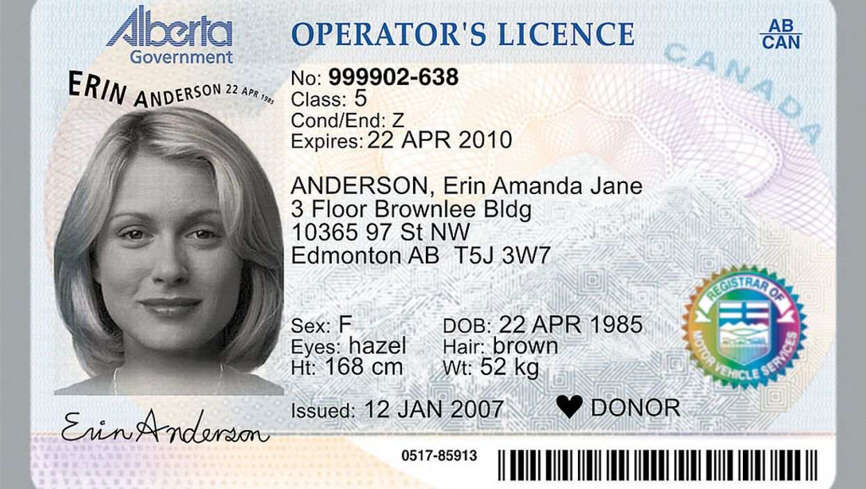 Alberta Has Announced A New Look For Driver's Licenses And ID Cards