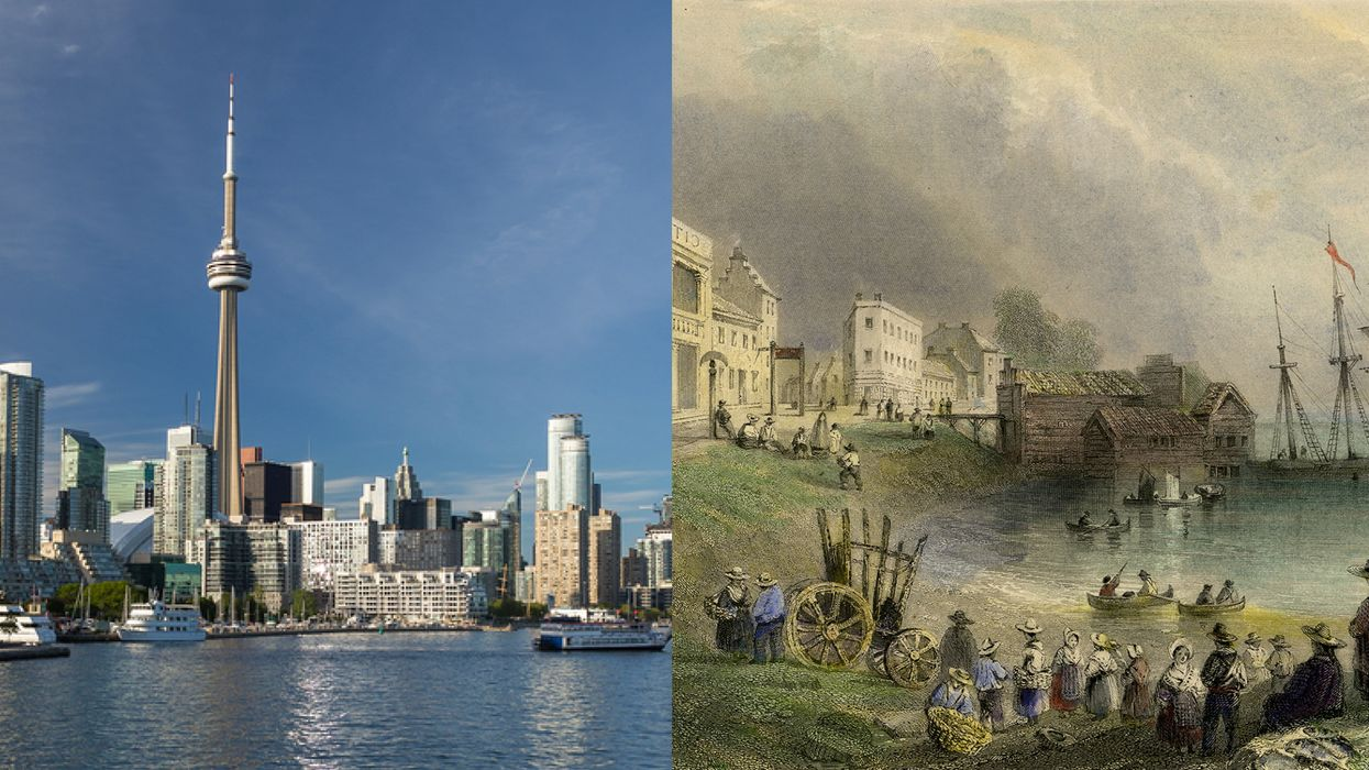 These Photos Of What Toronto Looked Like Over 200 Years Ago Versus Now Are Beyond Trippy (PHOTOS)