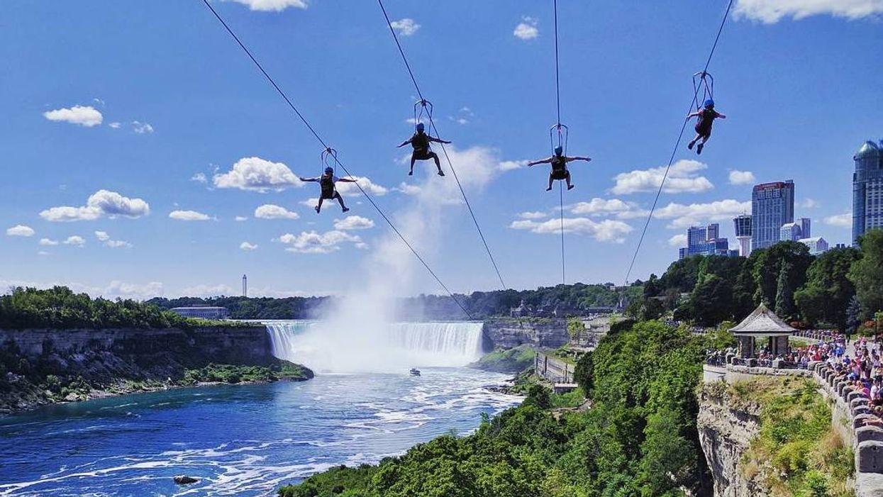 You Can Ride A Massive Zipline Beside Niagara Falls This Summer