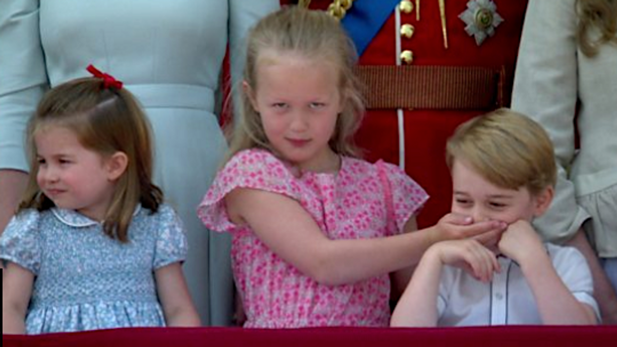 The Queen's Great Granddaughter Just Stole The Show At Her Birthday And Now It's A Meme