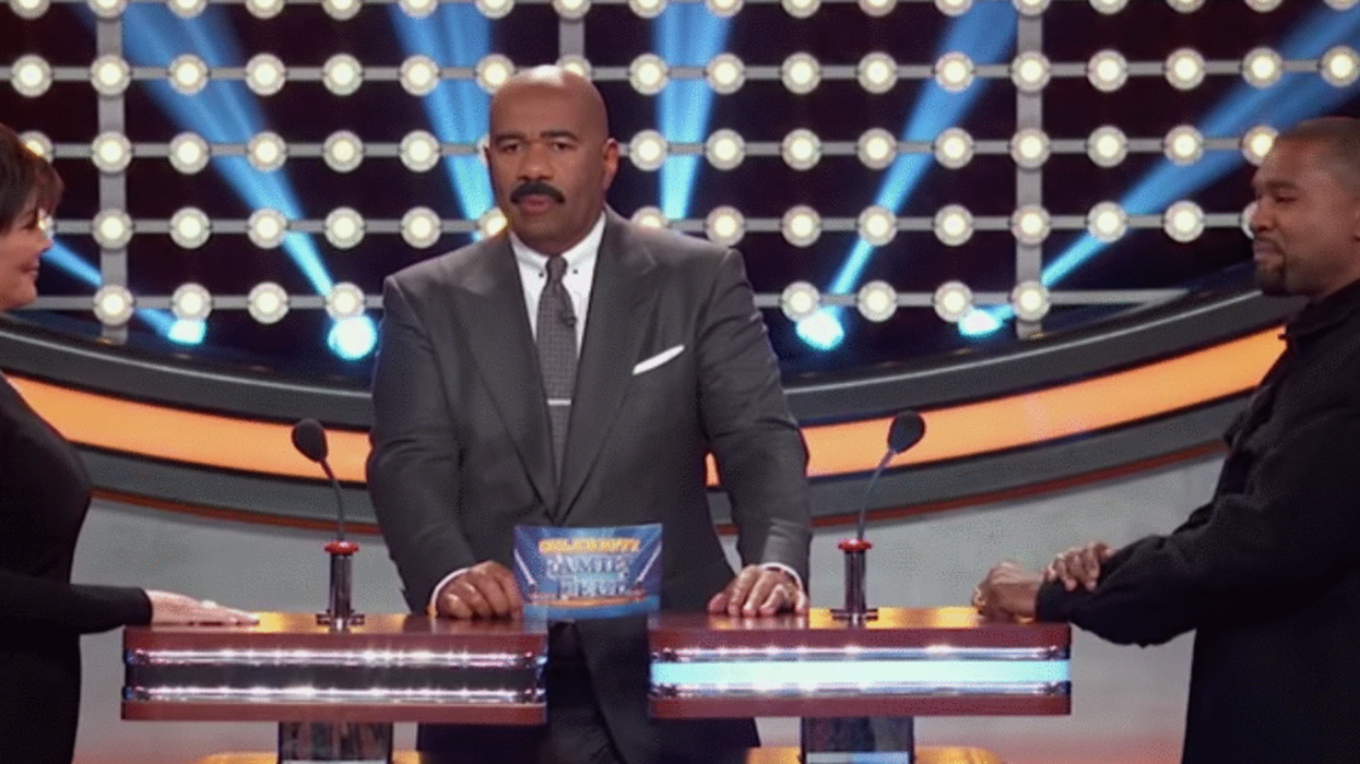 Here's Who Won Family Fued Between The Kardashian's And Kanye West's Family Last Night (VIDEO)